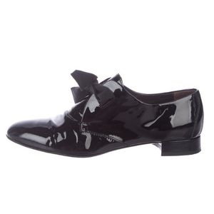 AGL black patent leather oxfords